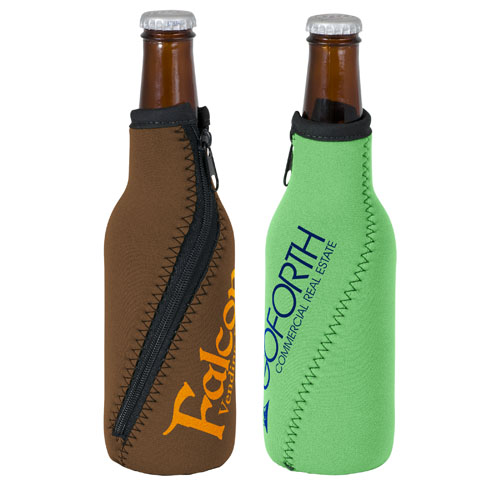 Neoprene Twister Zippered Bottle Coolie