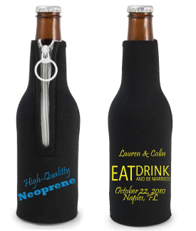 Neoprene Zippered Bottle Coolie