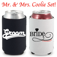 Mr. & Mrs. Neoprene Can Coolie Set